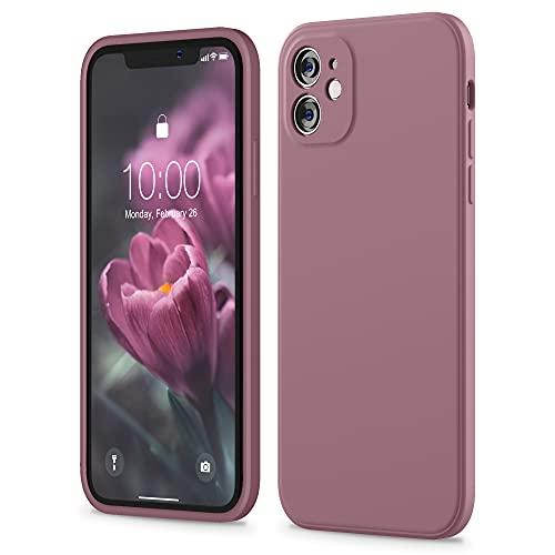 SURPHY Funda iPhone 11 Case de 6,1 pulgadas, bordes cuadrada fundas de silicona líquida (protección individual para cada lente) para...