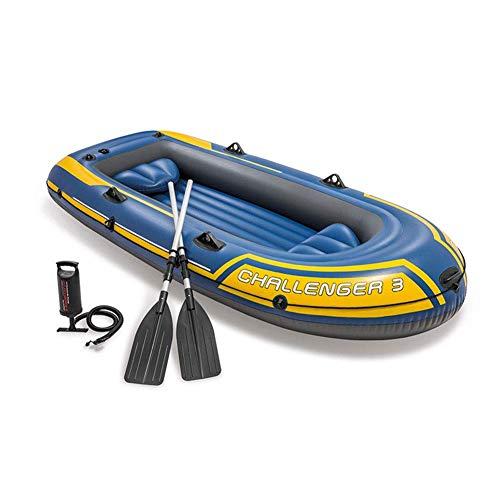 LXDDP Kayak Inflable 3 Personas 295Cm * 137Cm * 43Cm, Canoa Inflable recreativa al Aire Libre para el mar con Paleta aleación Aluminio y Bomba Aire