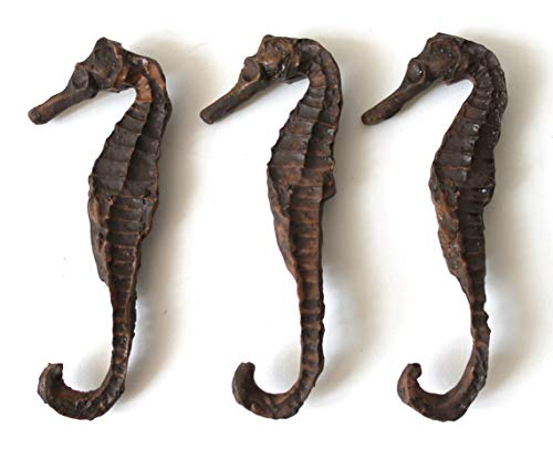 osters muschel-sammler-shop 3 Seepferdchen ca. 9cm aus Gießharz - wie echt