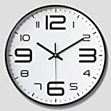 YUEBAOBEI Wall Clock, Silent Non-Ticking Battery Operated Decorative Quartz Clock with Big 3D Numbers, for Living Room Home Office,D,10 inches