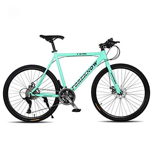 Bicicleta de montaña, de 26 pulgadas bicicleta de montaña, 21 de velocidad / velocidad 24/27 velocidad de cercanías, Frenos de disco doble, Hombre y estudiante de Bicicletas-ruedas de radios,F,27