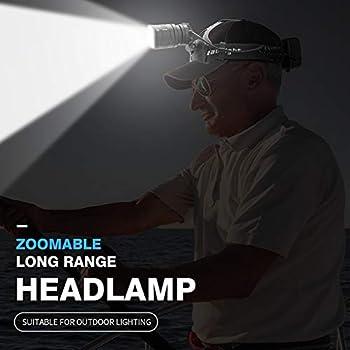 BANGNA Long Shot Zoom Phare Lampe Frontale étanche Lampe de Poche de Camping en Plein air Super Bright