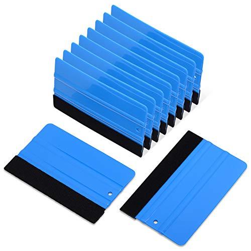 Ehdis 5 Stück Rakel Set Karte Filzrakel für professionelles Folierung von Fenstern Vinyl Wickeln Werkzeug Farbton Film Weich Rakel Auto Scheibentönungsset 5 Zoll