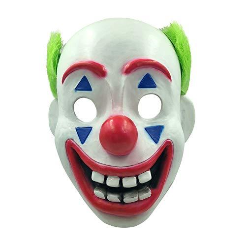 Sxgyubt Masker Mannen griezelige Clown Masker Enge Dans Jurk Kostuum Party Props voor Halloween Rol Spelen Plezier Halloween Party Decoratie #3