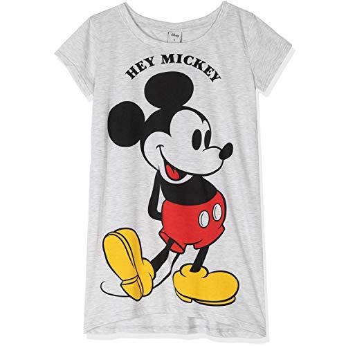 Disney Lizenzierte Original Nachtwäsche Mickey & Minnie Mouse Characters Damen Nachthemd Nachthemd Nachthemd Pyjama Baumwollstoff Made S M L XL Gr. Medium, Graues Nachthemd – Hey Mickey