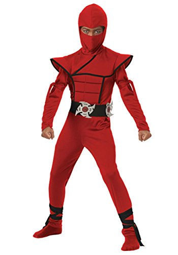Stealth Red Ninja Kids Costume, size Small
