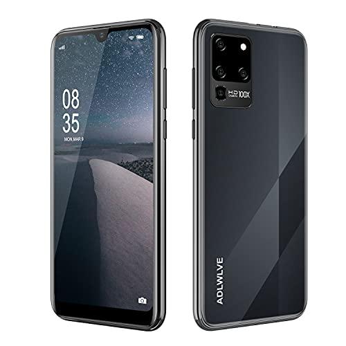 4G Moviles Libres Baratos 6,3 Pulgadas Android 9.0,32GB ROM +3 GB RAM Smartphone Libres Quad Core Teléfono Móvil 4600mAh Face ID, Moviles Baratos y Buenos GPS/WiFi/Hotspot (2*SIM+1*SD) (Negro)
