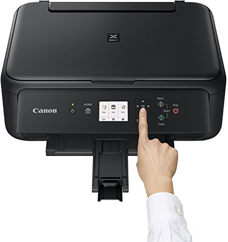 Canon PIXMA TS5150 Drucker Farbtintenstrahl Multifunktionsgerät DIN A4 (Scanner, Kopierer, Farbdisplay, 4.800 x 1.200 dpi, USB, WLAN, Duplexdruck, 2 Papierzuführungen), schwarz