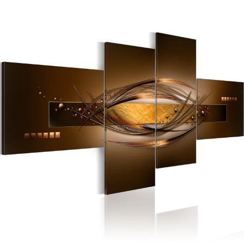 Impression sur toile 200x90 cm - 4 Parties - Image sur toile – Images – Photo – Tableau – Abstraction 020101-25 200x100 cm B&D XXL