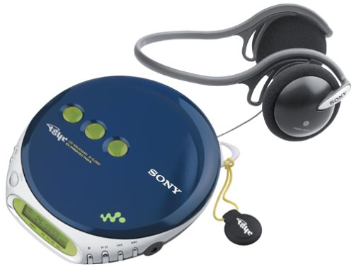 Sony D-EJ360 PSYC CD Walkman (Blue) (Discontinued by Manufacturer)