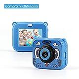 TAOCOCO Cámara para niños, cámara HD 1080P, cámara de 2 megapíxeles, cámara de Buceo para niños 30M, cámara Impermeable para niños-Azul