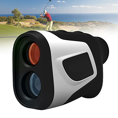 EnweMahi Telémetro Laser Golf,Medidor Distancia Caza 1000M Aumento 6X Carga USB (750 Mah) 6 Modos Telemetro Prismaticos con Compensación Balística Golf, Bloqueo Asta Bandera,1000M