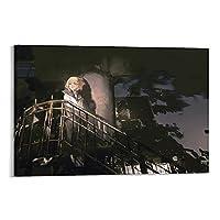 暗闇の中を移動するファンタジーアートのポスター船 キャンバス 芸術 ポスター 壁アート 画像 印刷 現代 寝室 装飾 ポスター ホームアートワーク16×24inch(40×60cm)