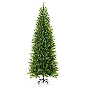 Artificial Christmas Tree,Classic Kingswood Fir Pencil Tree 5/6/7 FT