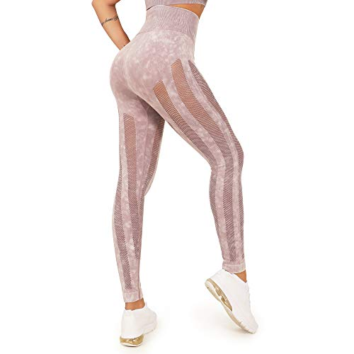 WOWENY Mallas Pantalones Deportivos Leggings Mujer Mallas Deportivas Fitness Leggins Polainas de Yoga Training Fitness Estiramiento (A-Violeta, XL)