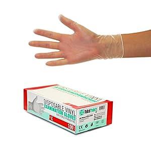 Guanti in vinile 1000 pezzi 10 scatole (L, Transparente), guanti usa e getta, senza polvere e lattice, per la pulizia della cucina, non sterile