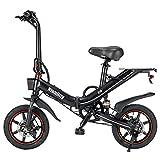 NIUBILITY Bicicletta Elettrica Pieghevole Da 14 Pollici Power Assist E Bike Con Motore Da 400w,la Batteria Al Litio Da 48 V 15 Ah Nero