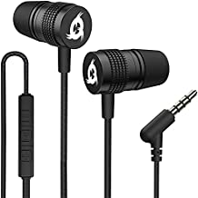 KLIM F1 Earbuds with Microphone + Excellent Audio Quality + Long-Lasting Wired Earphones with Mic + 5 Years Warranty + 3.5 mm Jack in Ear Headphones + Media Controls + Gaming Earbuds - New 2021