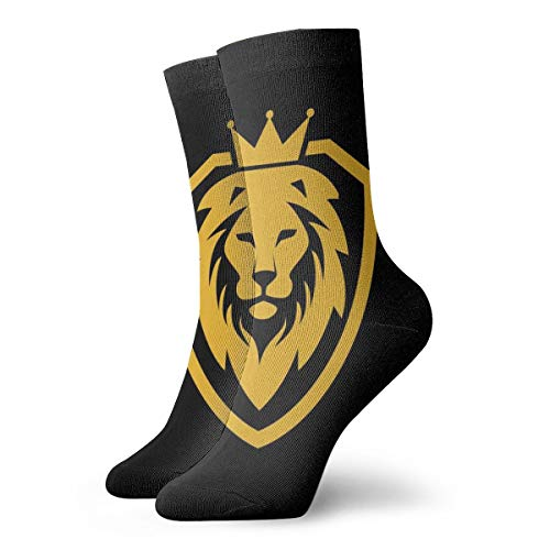 Hunter qiang - Calcetines para hombre y mujer, con logotipo de Lion King Shield, 30 cm