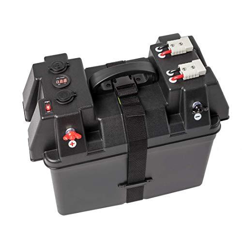 WATTSTUNDE Akku Batteriebox für 100Ah AGM Batterie - für Wohnmobil, Camper, Bootsmotor Elektromotor Aussenboarder (BAX110)