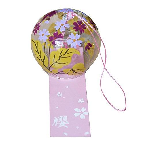 Campanas de viento carillones de viento japonés spooff cristal regalo de San Valentín Regalo decoraciones caseras decorativas decoraciones de jardín cocina Spa ventana decoraciones (flores y hojas)