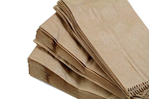 Bolsas de papel de 90 x 40 x 170 mm, 9 x 4 x 17 cm, color marrón, para almuerzo, para detalles de boda (100 unidades)