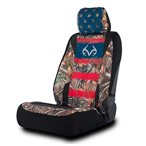 Realtree Edge Camo Americana Low Back Seat Cover for Truck, SUV and Car, Single