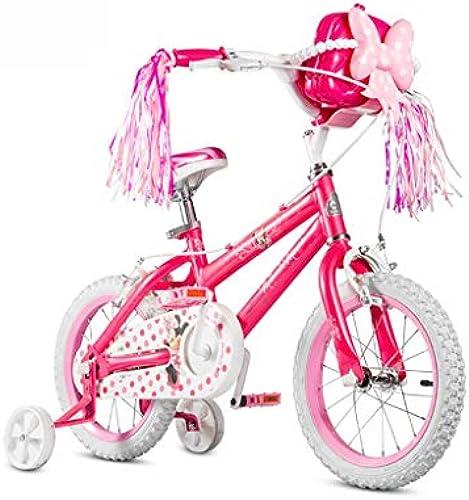 Kinderfürrad mädchen fürrad 12 14 16 Zoll roter Kinderwagen Mountainbike perfektes Geschenk (Farbe   Rosa, Größe   16INCH(115CM20CM5cm))