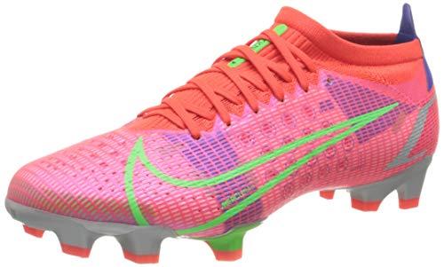 Nike Vapor 14 PRO FG, Scarpe da Calcio Unisex-Adulto, BRT Crimson/Mtlc Silver-Indigo Burst-White-Rage Green, 41 EU
