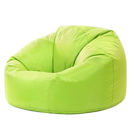 Bean Bag Bazaar Panelled Classic Bean Bag Chair, Lime Green - Large, 84cm x 70cm - Indoor Outdoor Water Resistant BeanBags