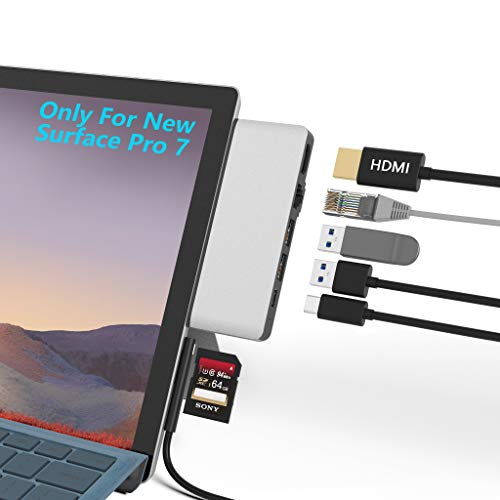 Surface Pro 7 Hub Docking Station con Adaptador HDMI 4K +