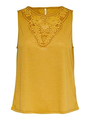 ONLY Damen ONLISA S/L TOP JRS Trägershirt/Cami Shirt, Golden Spice, M