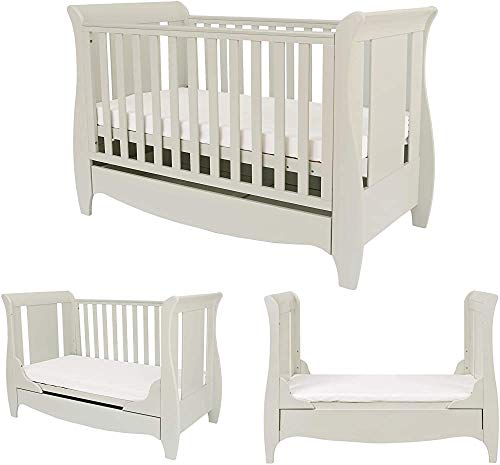 It Made of Solid Wood Crib Made of Simple and Classic fit from The Crib Converted into Ordinary Bed and a Sofa Bed from Birth to 6 Years of Age,White-140 x 70 cm