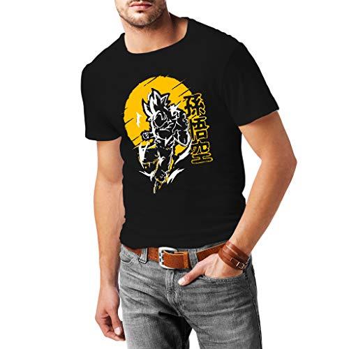 Goku Ultra Istinto - T-Shirt Herren - 100% Baumwolle (M, Schwarz)
