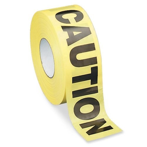 """S.P. Richards Company Barricade Tape,"""" Caution"""", 3 x 1000 Inches, Yellow with Black (SPR11795) by S.P. Richards Company (English Manual)"""