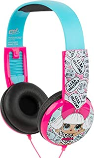 L.O.L. Surprise! Kids Safe Over The Ear Headphones HP2-03136 | Kids Headphones, Volume Limiter for Developing Ears, 3.5MM Stereo Jack, white/black Recommended for Ages 3-9, by Sakar