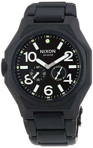 Nixon Herren-Armbanduhr XL Analog Quarz Edelstahl A3971042-00