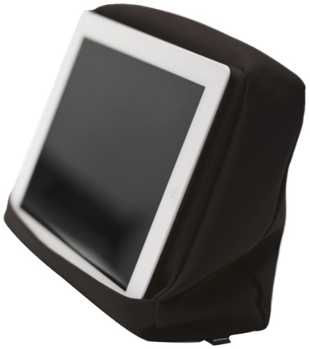 Bosign Tabletpillow Hitech 2 per iPad/Tablet PC, Cuscino da Divano/Letto con Tasca Porta Tablet, Nero/Nero