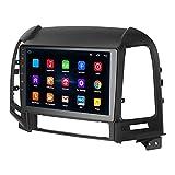 Gugxiom Sistema De Navegación, Auto MP5 Player 9in Car Navigator FM Radio WiFi 4.0 para Santa Fe IX45 200(1 + 16G)