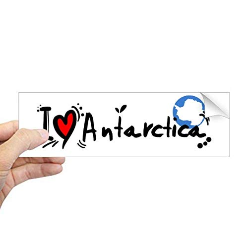 DIYthinker Ik hou van Antarctica Word Vlag Liefde Hart Illustratie Rechthoek Bumper Sticker Notebook Window Decal