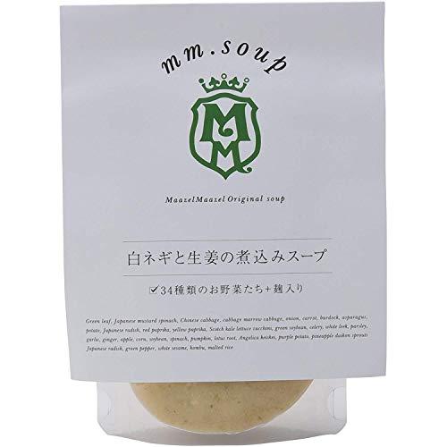 mm.soup 白ネギと生姜の煮込みスープ 180g×12P 34種類の純国産野菜と伝統発酵食材の米こうじが入った食べるスープスムージー