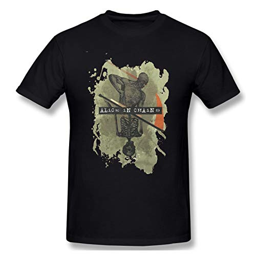 Alice In Chains Cream Color Men Short Sleeve T-Shirt Rock Quick-Drying Tops Black 6XL
