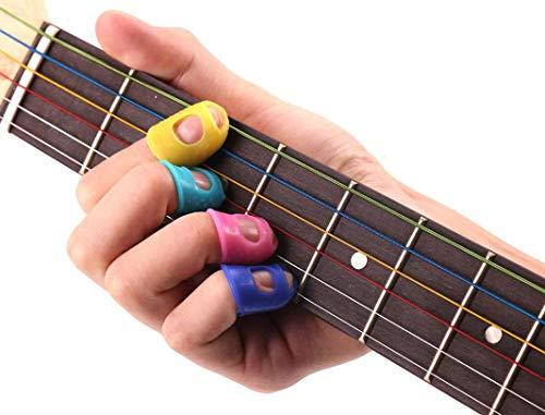 XelparucTS Lot de 15 protège-doigts en silicone Couleurs aléatoires