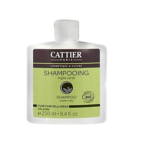 Cattier Shampooing Cheveux, Gras Argile Verte, Cuir Chevelu Gras, BIO, 250 ml
