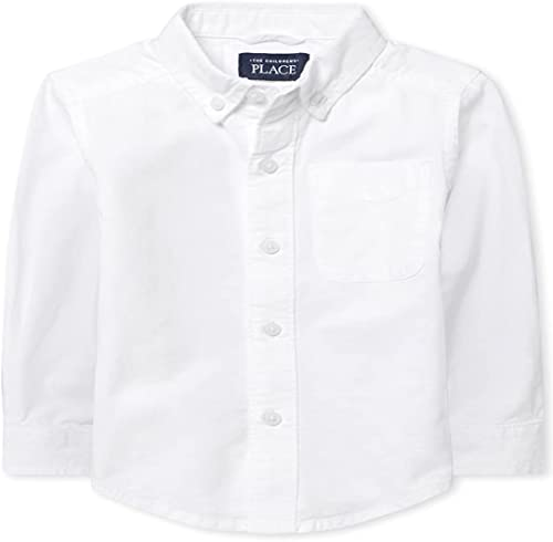 The Children's Place Boys' Long Sleeve Oxford Shirt