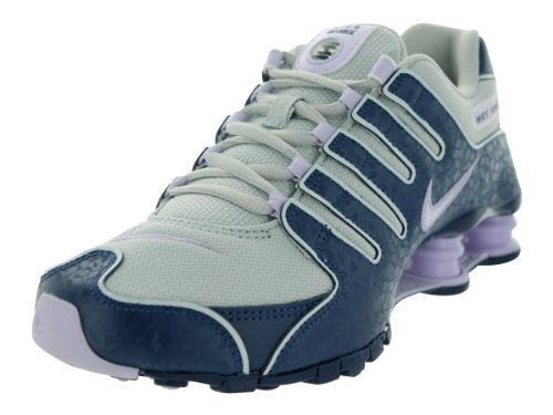 designer fashion 42241 8857d Nike SHOX NZ EU Women Sneakers Dusty Grey Brave Blue Summit White Violet  Frost 488312-054