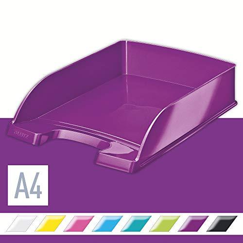 Leitz 52263062 Briefkorb Plus WOW, A4, Polystyrol, violett