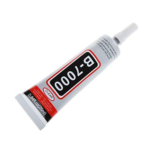 B-7000 Pegamento 25 ML transparente para reparaciones de Pantalla de Smartphone, Tablet y arreglos de zapatos, bisutería, encuadernación de libros