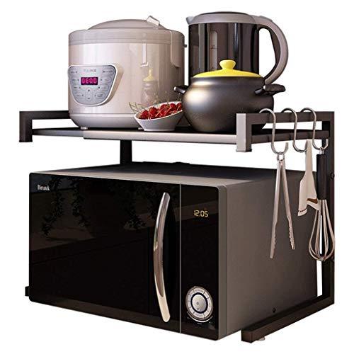 L-WSWS Los estantes de la cocina estante de la cocina montado en la pared del horno microondas perchero de pie multifunción múltiples capas de almacenamiento Horno Utensilios de cocina condimento (Col