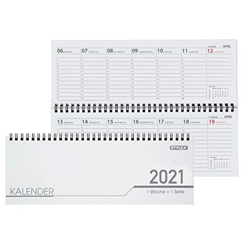 Stylex Schreibtisch Querkalender 2020 - 32 Blatt - 1Woche Pro Seite
